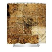 Sundial 1 Shower Curtain