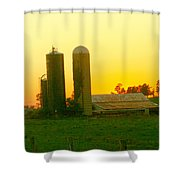 Sundown At The Ranch Shower Curtain