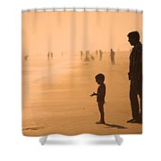 Sundown By The Bay Of Bengal Shower Curtain
