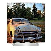 Sundown Chevy Shower Curtain