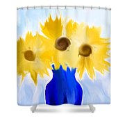 Sunflower Fantasy Still Life Shower Curtain