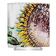 Sunflower Fish 3 Shower Curtain