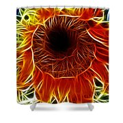 Sunflower Fractal Shower Curtain