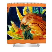 Sunflower Head 3 Shower Curtain