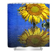 Sunflower Reflection Shower Curtain by Andee Design
