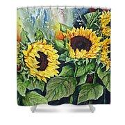 Sunflower Serenade Shower Curtain