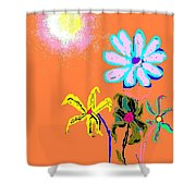 Sunflowered 3 Shower Curtain