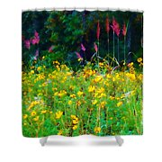 Sunflowers And Grasses Shower Curtain