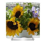 Sunflowers Four Shower Curtain
