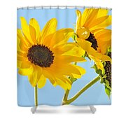 Sunflowers Sky Shower Curtain