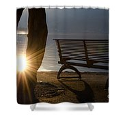 Sunlight And Bench Shower Curtain