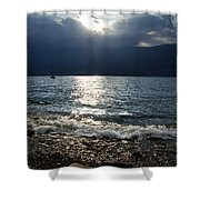 Sunlight And Waves Shower Curtain
