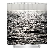 Sunlight On A Lake With Islands Shower Curtain