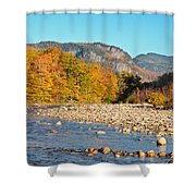 Sunlight On The Saco Shower Curtain by Geoffrey Bolte