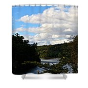 Sunny Around The Bend Shower Curtain