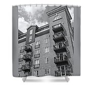 Sunny Black And White Day Shower Curtain