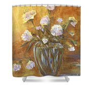 Sunny Carnations In A Vase Shower Curtain
