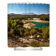 Sunny Day In El Chorro. Spain Shower Curtain
