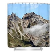 Sunny Mountain Afternoon Shower Curtain