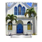 Sunny Sunday Sermon Shower Curtain