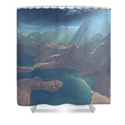 Sunrays Shine Down On This Image Shower Curtain