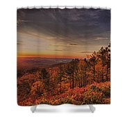 Sunrise 2-talimena Scenic Drive Arkansas Shower Curtain by Douglas Barnard