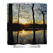 Sunrise Along The Delaware River Shower Curtain