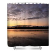 Sunrise And Fish And Docks Shower Curtain