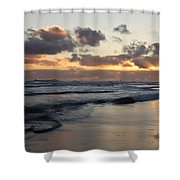 Sunrise At Bamburgh Beach Shower Curtain