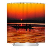 Sunrise At Indian Sea  Shower Curtain