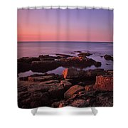 Sunrise At Otter Point Shower Curtain