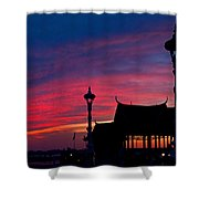 Sunrise At Sisowath Quay. Shower Curtain