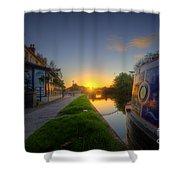 Sunrise At The Boat Inn Shower Curtain