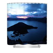 Sunrise At The Crater Shower Curtain