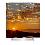 Sunrise Bayou Shower Curtain