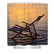 Sunrise Beach Lounging Shower Curtain