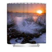 Sunrise Explosion Shower Curtain