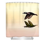 Sunrise Flight Shower Curtain