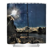 Sunrise Moon Dance Shower Curtain