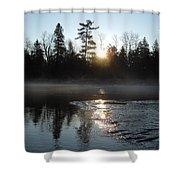 Sunrise On Ice Shower Curtain