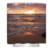 Sunrise On Kauai Coast Shower Curtain