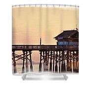 Sunrise On Rickety Pier Shower Curtain