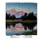 Sunrise On The Tetons Shower Curtain