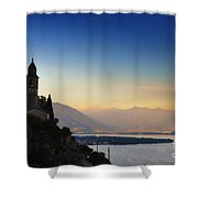 Sunrise Over An Alpine Lake Shower Curtain