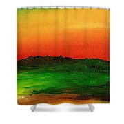 Sunrise Over Cane Field Shower Curtain