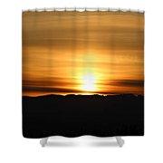 Sunrise Over Cascade Mountains Shower Curtain