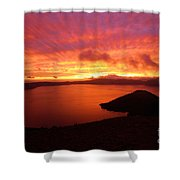 Sunrise Over Crater Lake Shower Curtain