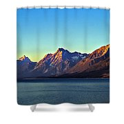 Sunrise Over Jackson Lake Shower Curtain