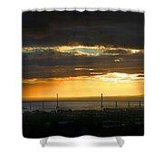 Sunrise Over Kessock Shower Curtain