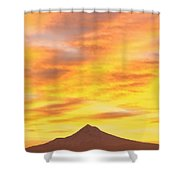 Sunrise Over Mount Hood, Portland Shower Curtain